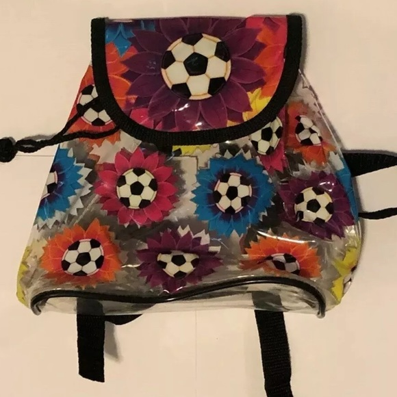 Lisa Frank Handbags - Lisa Frank Soccer ⚽️ Mini Backpack Bag 90s Clear